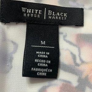 White House Black Market Tops - White House Black Market Layered Print Top Sz M